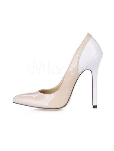 Stiletto Heel Pointed Toe Patent Leather Womens Dress Pumps - Milanoo.com