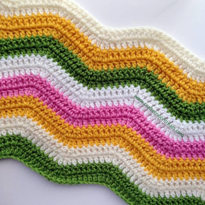 Nuevos colores de verano ondulación | Crochet blankets | Pinterest ...