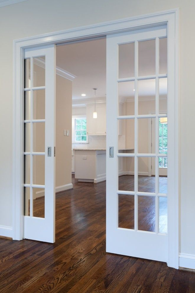 Pocket French Doors Entry Traditional With Iron Dallas Window