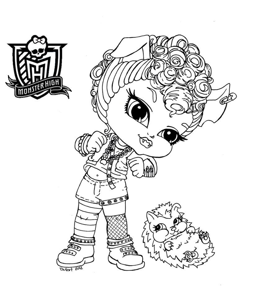 Baby Monster High Coloring Pages | Baby Howleen by *JadeDragonne on ...