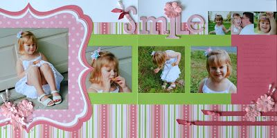 My Scrappy Chic: Sophia Layout: Lucy's Summer Day