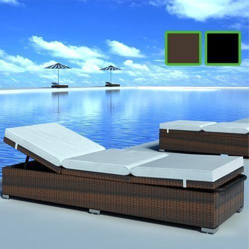 Rattan Lounge Liege Gartenmobel Gartenliege Sonnenliege Liegestuhl