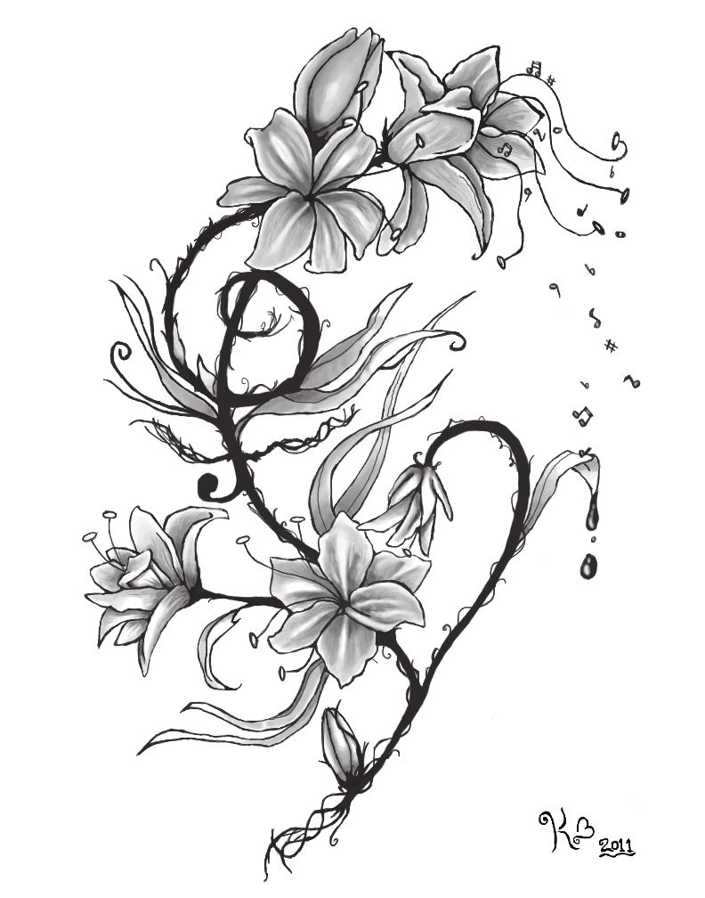 Treble clef bass clef very pretty tattoo ideas pinterest lily tattoos designs ideas and meaning izmirmasajfo
