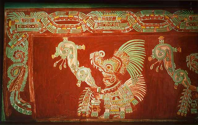 Reconstruction Of Teotihuacan Mural From The Tepantitla