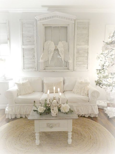 junk chic cottage lets get this party started christmas at home rh pinterest com shabby chic cottage painted furniture shabby chic cottage style furniture