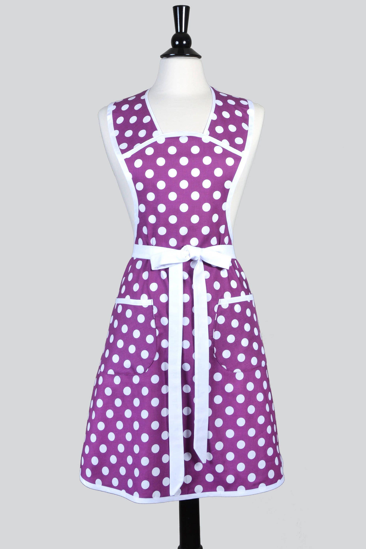 vintage grandma style women s plus size apron in modern purple white rh pinterest com