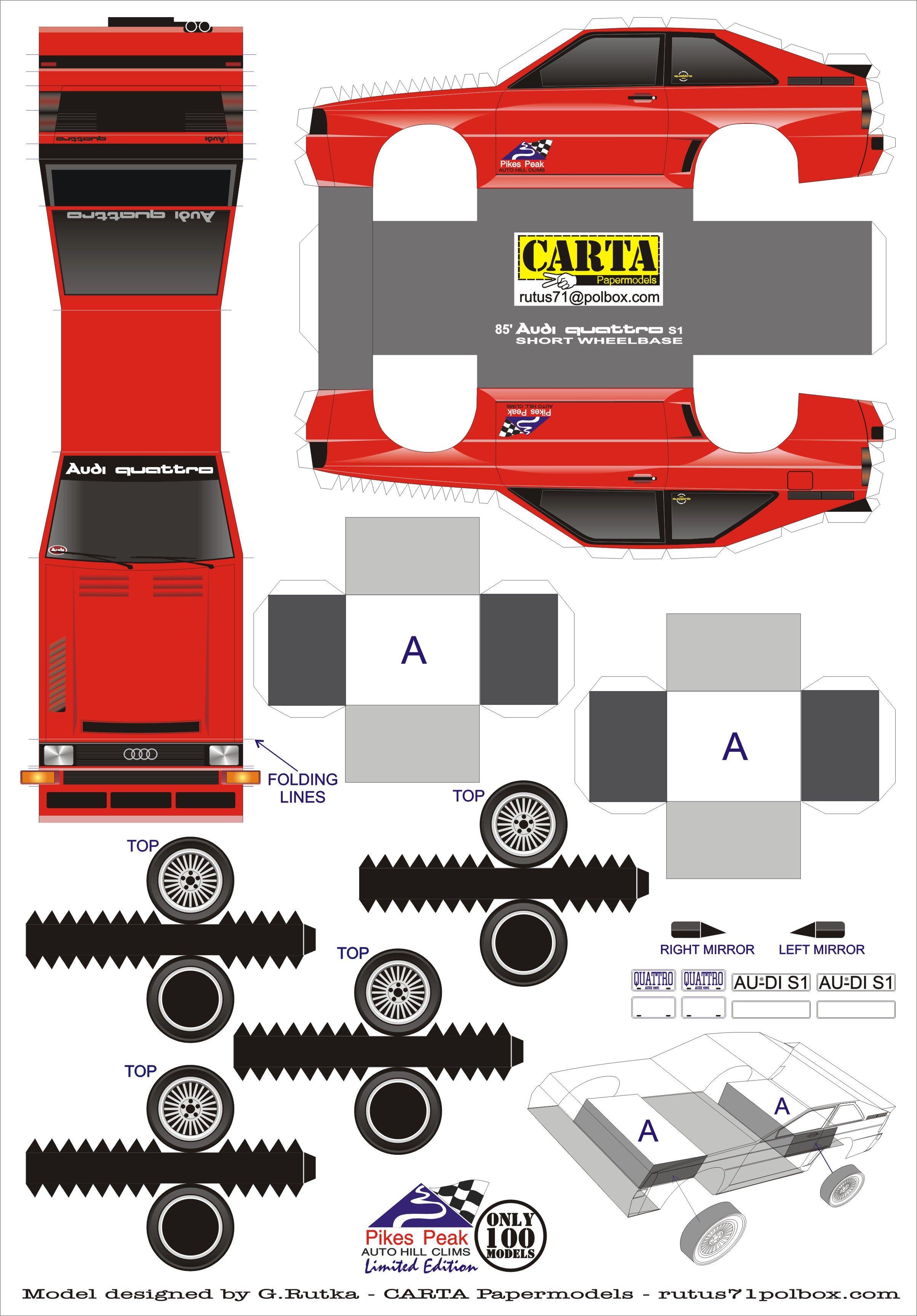 Descarga uno de nuestros modelos armables! Quattro S1 | Armables ...