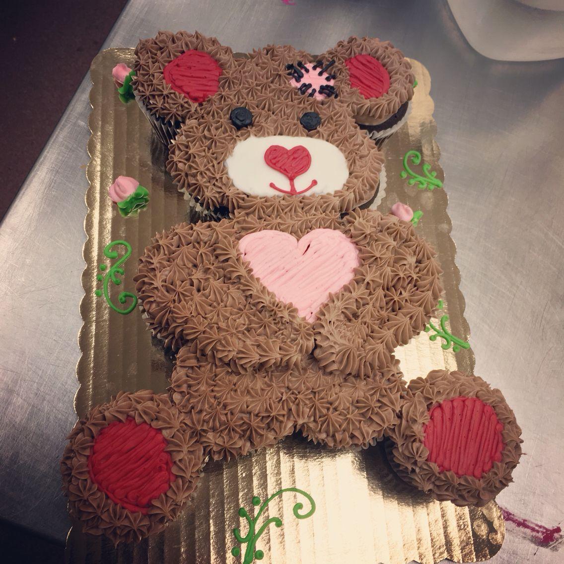 Teddy Bear 12 Count Pull Apart Cupcake Cake