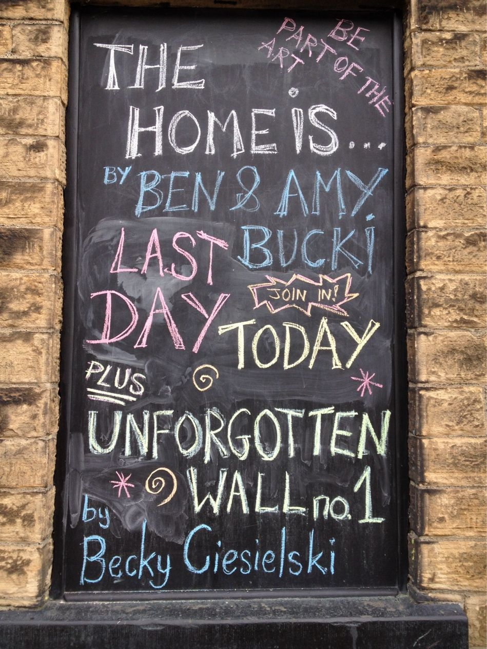 Last day today @cupolagallery for The Home is...by Ben & Amy Bucki & Unforgotten Wall no.1 by Becky Ciesielski. Be part of the #art #sheffieldissuper