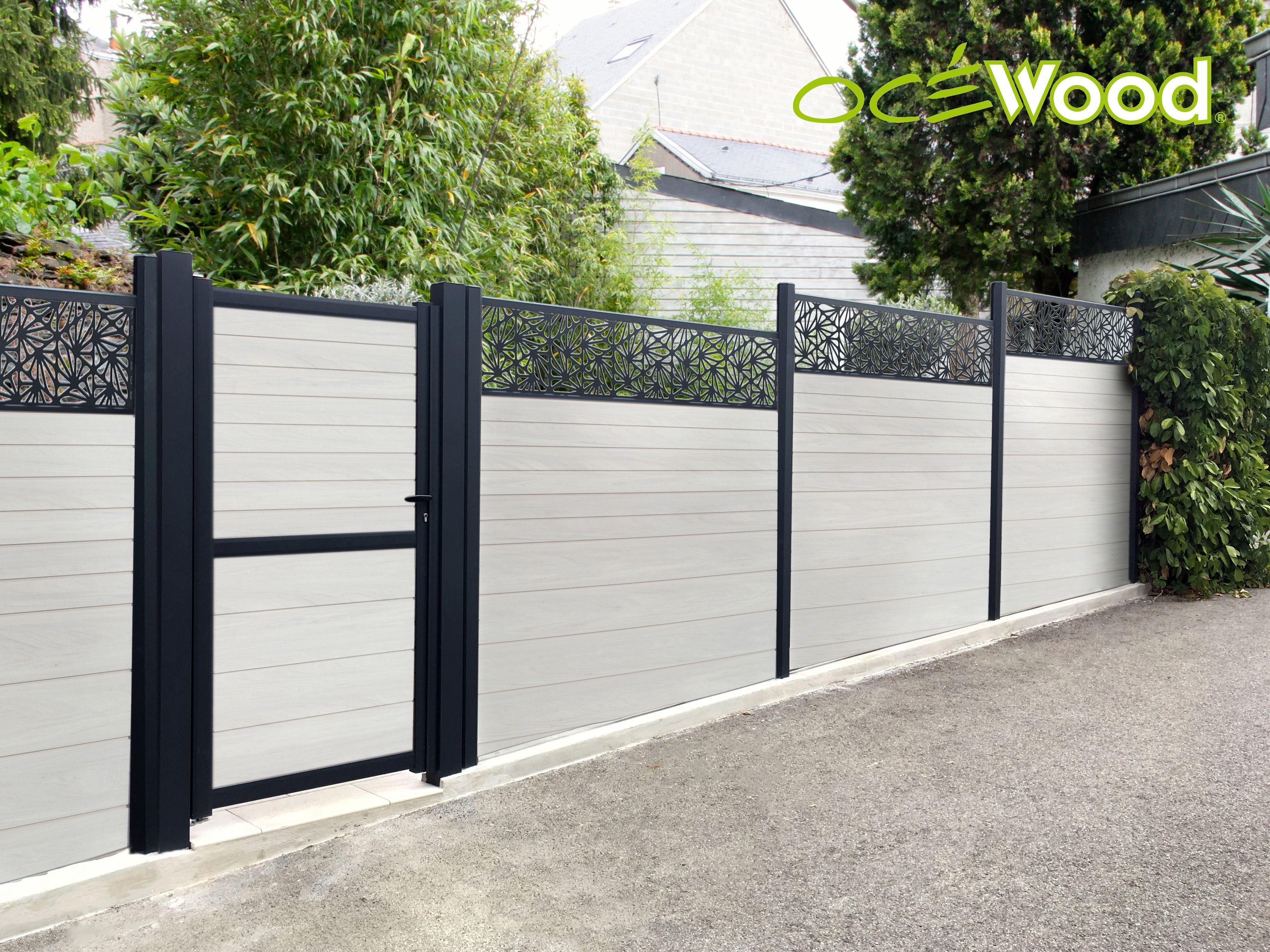 clôture panneau clôture rambarde anthracite treillis métallique différ hauteurs