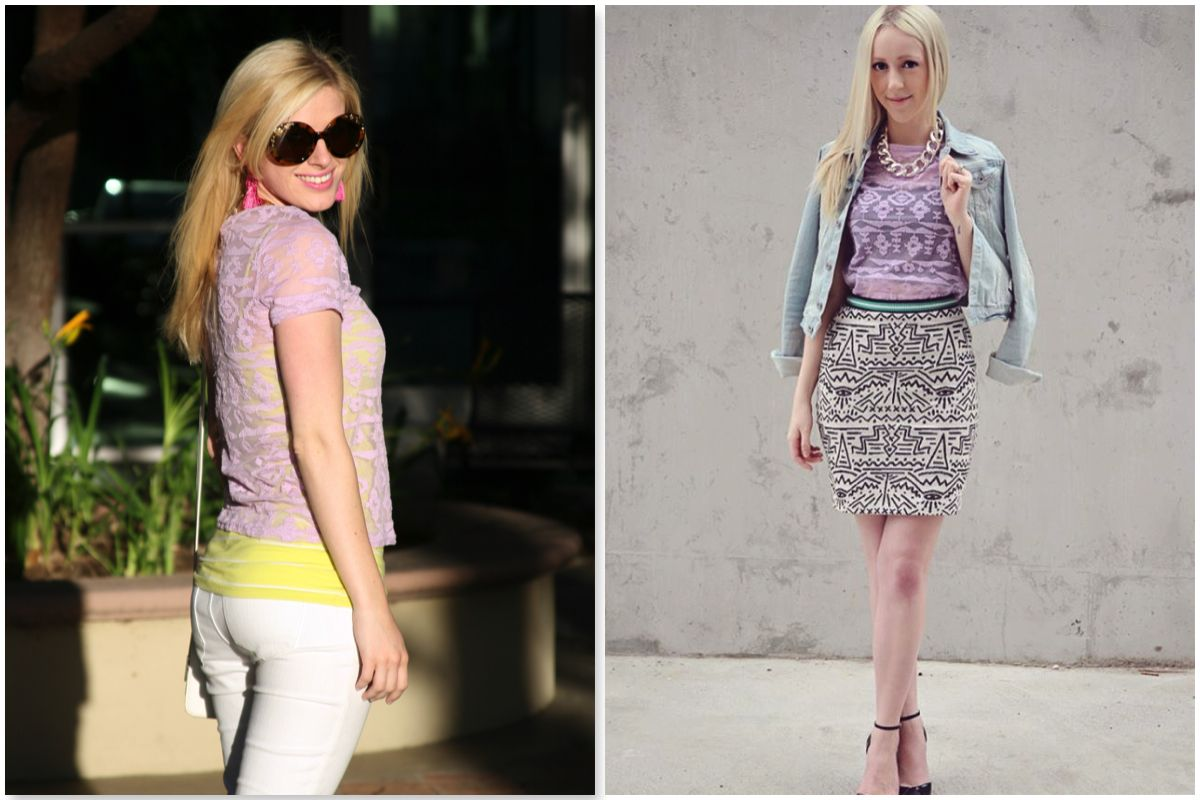 156a64a5a2b5  Wear it 2 Ways  with  Katelyn Zborowski +  Marshalls  lace  pastel top   fashion  outfitinspiration  style  fabfound  marshalls  projectfab  OOTD    ...