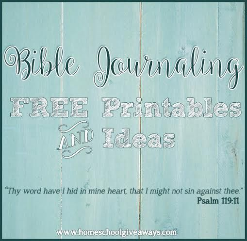 Bible Journaling FREE Printables and Ideas   Free Resources