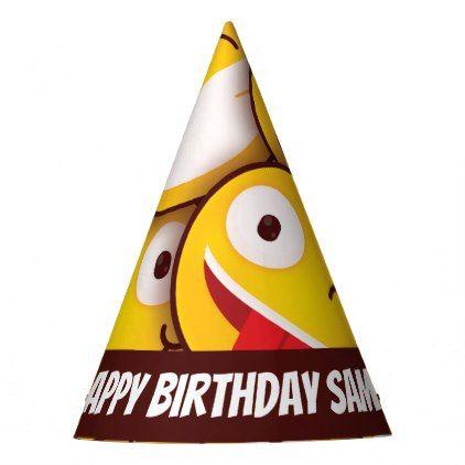 Kawaii Cute Smiley Emoji Emoticon Birthday Party Hat