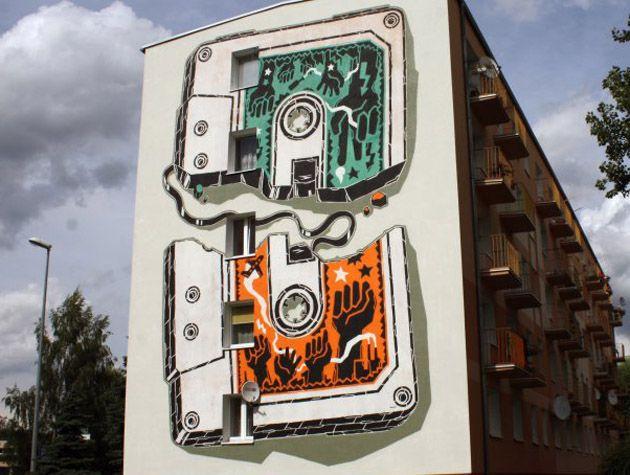 Nowy mural M-City w Jarocinie