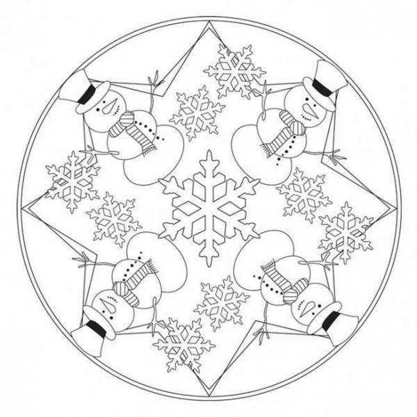 Mandala Di Inverno 7 Passi Pagine Da Colorare Mandala E