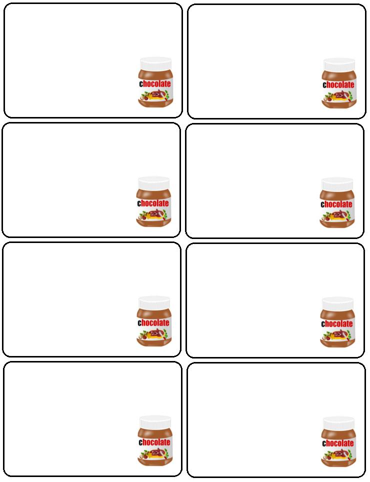 Labels Nutella Labels Printable Labels Printables Nutella Label Nutella Printable Labels
