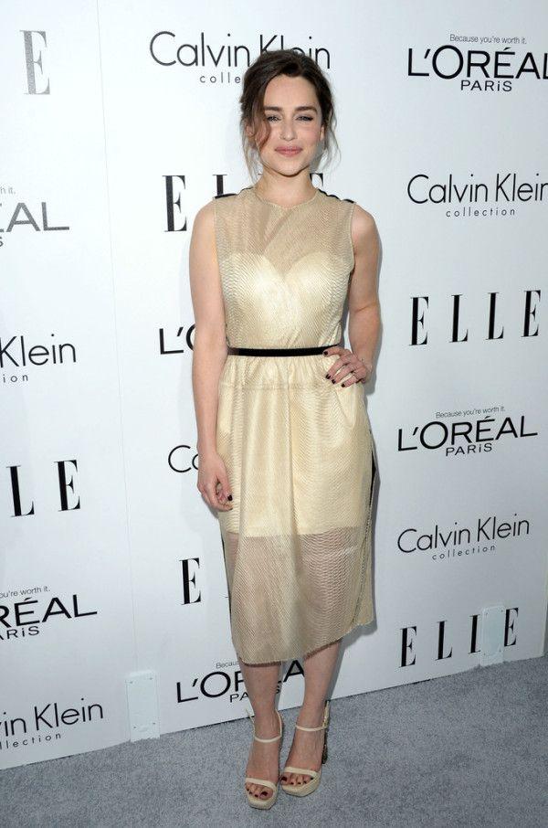 Fabulously Spotted: Lea Michele Wearing Calvin Klein