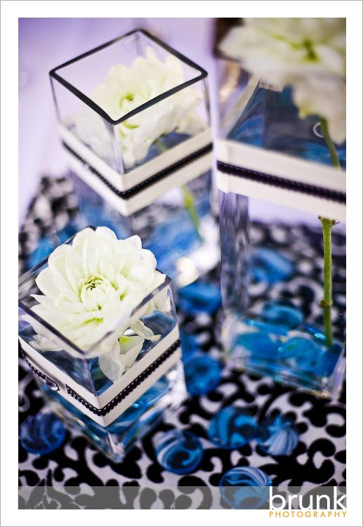 My Wedding Colors Black White Damascus And Blue