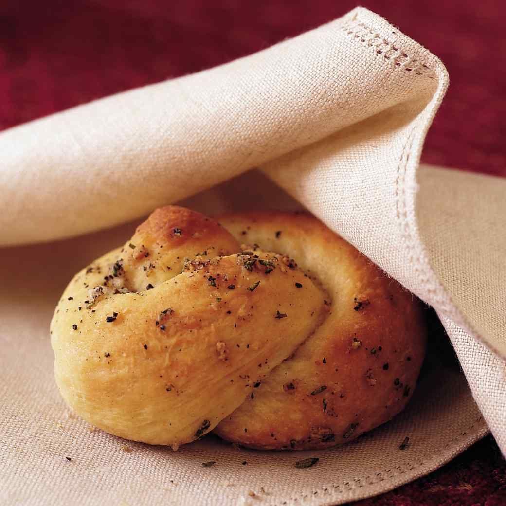 Garlic and Rosemary Knots