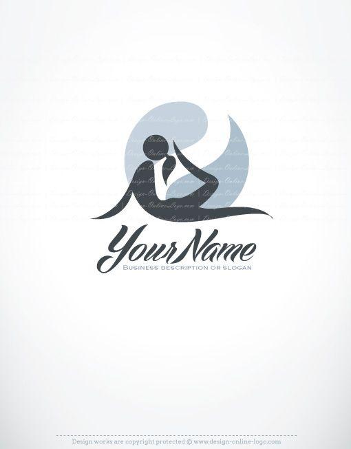 Exclusive Design Woman Yoga Logo Compatible Free Business Card Yoga Logo Logo Design Women Sports Logo Design