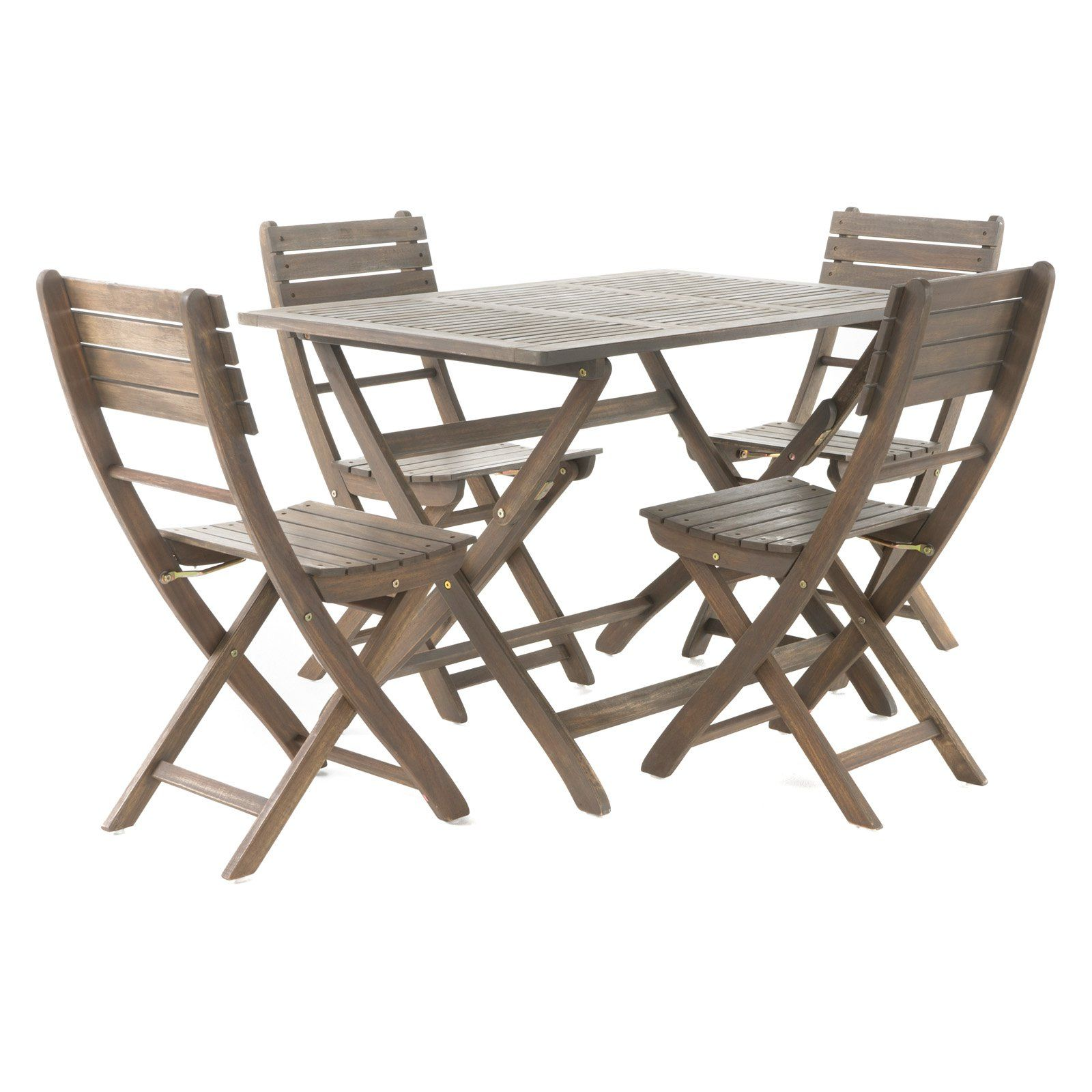 Outdoor Pablo Acacia Wood Foldable Patio Dining Set Products In