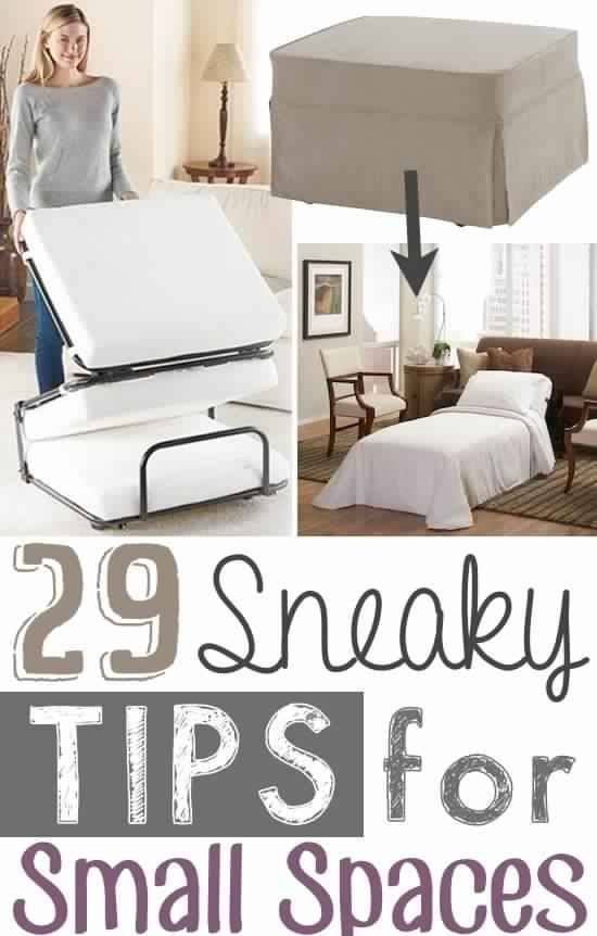 29 Sneaky Tips For Small Space Living Diy Tips Home