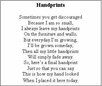 Selective image intended for handprint poem printable
