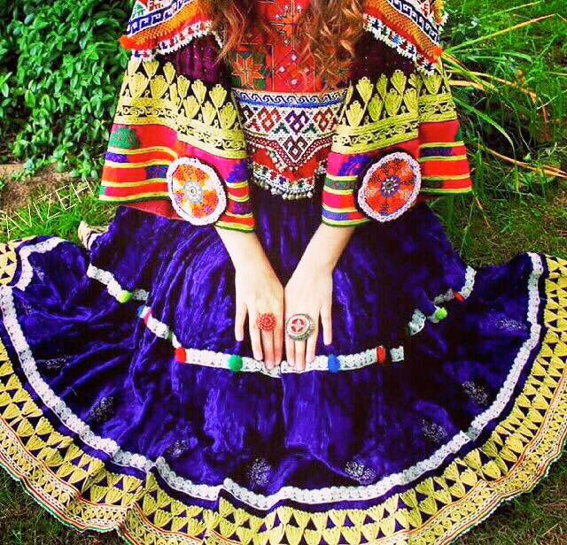 #afghan #national  #dress #jewelry #purple