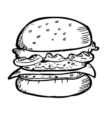 Burger Doodle Vector 788740 Jpg 380 400 Burger Icon Burger Drawing Coloring Pages