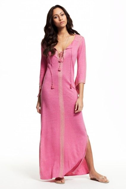 Enjoy an additional 60% off sale prices for our Solstice Sale! Talberni Embroidered Linen Dress.