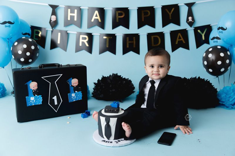 Pin By Monique Aguilar On My Boss Baby 1st Birthday Baby Birthday Pictures Baby Cake Smash Baby Birthday Party Boy