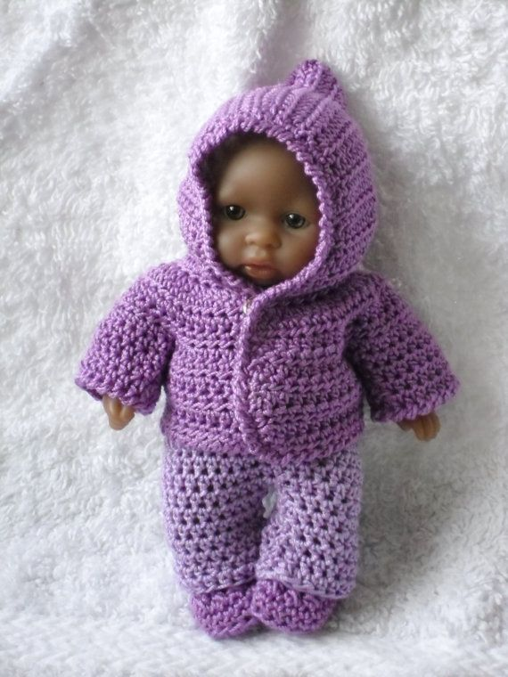 Crochet pattern for Berenguer 5 inch baby doll jacket and trouser ...