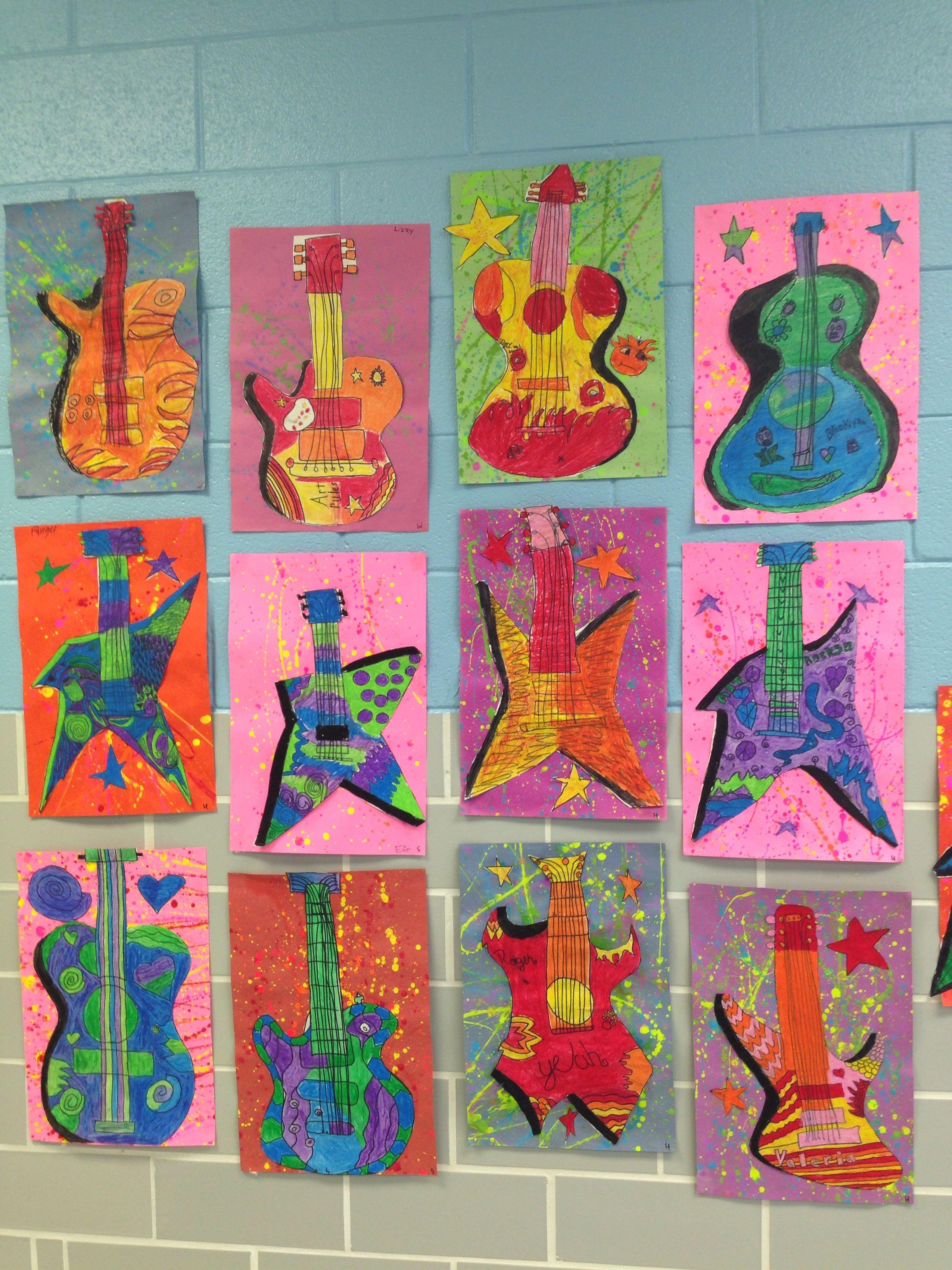 Fifth Grade Jackson Pollock Guitar Lesson