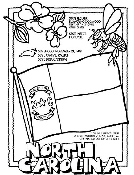 North Carolina State Symbol Coloring Page By Crayola Print Or Color