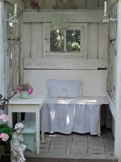 Cottage garden shabby outdoor ideas garten gartenhaus und garten ideen - Gartenhaus shabby chic ...