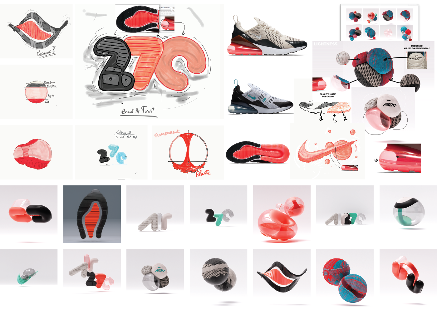 Nike Air Max 720 Illustration & Typography | Air max 270