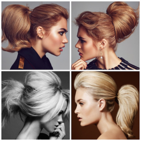 We love these voluminous ponytails!
