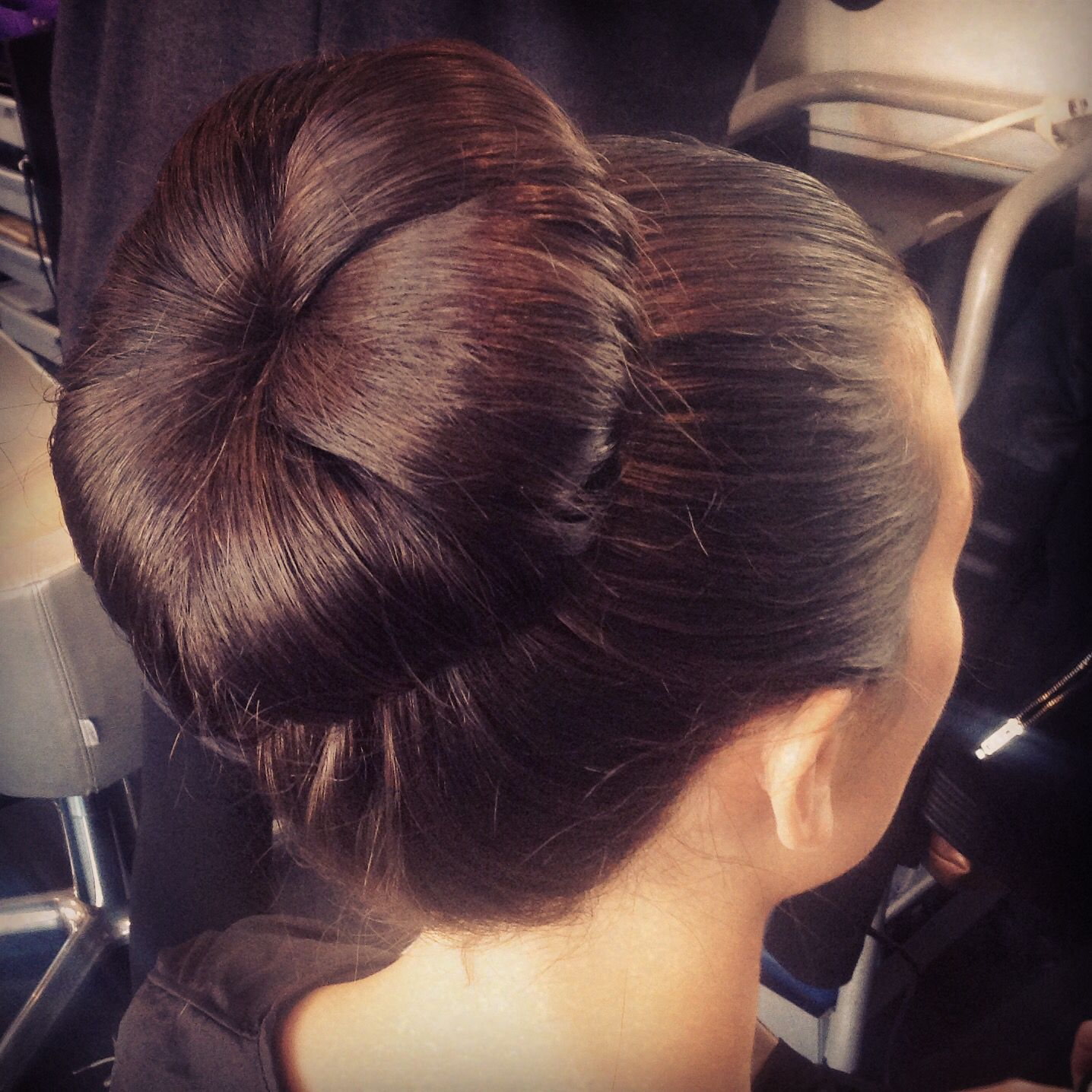 Simple bun Wedding hair Luxe Lancaster pa hair by whitney