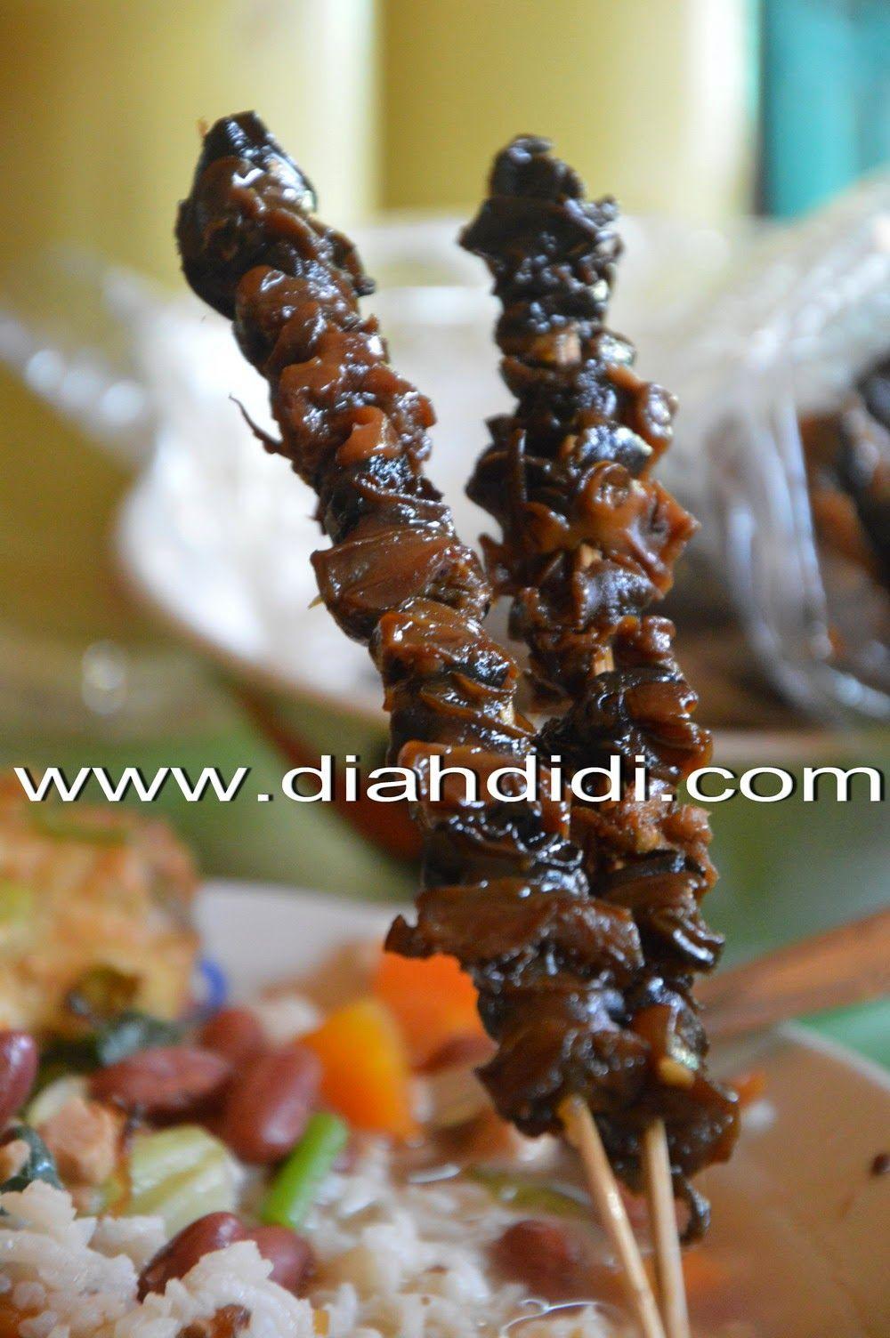 Sate Keong Makanan Resep Masakan Masakan