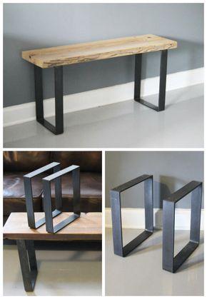 jambe pied m tal banc jambe pied de table jambe en acier paire de jambes d deco. Black Bedroom Furniture Sets. Home Design Ideas