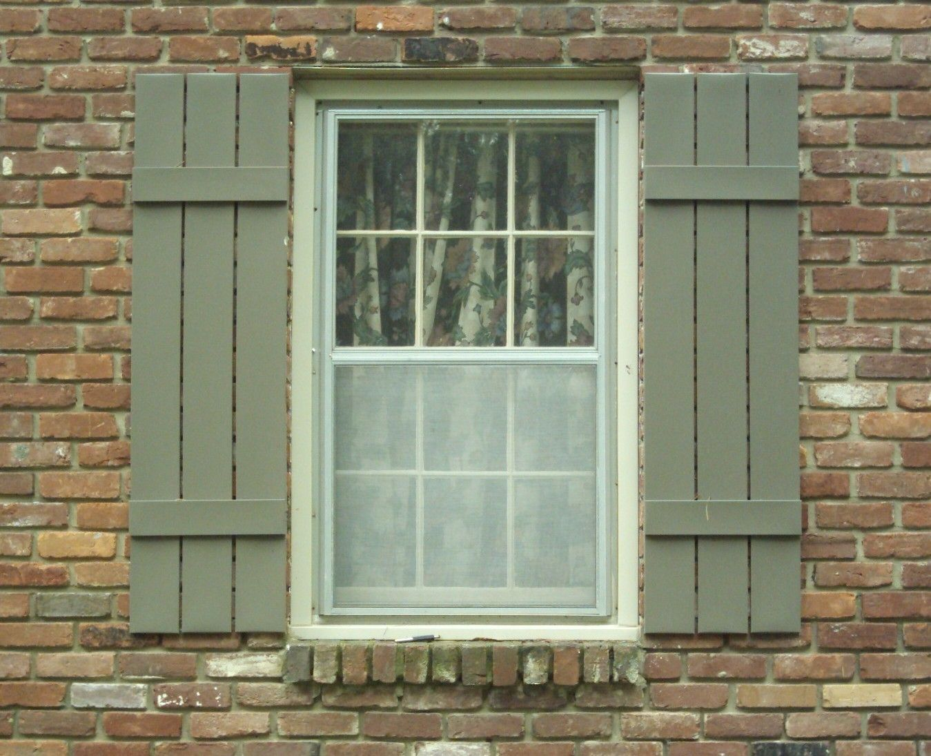 Wooden slat shutters shutters and hardware pinterest for Window shutters
