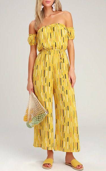 929ed35b3a0 True Radiance Yellow Multi Print Off-the-Shoulder Jumpsuit -  BestFashionHQ.com