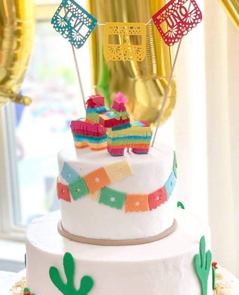Photo of 1x Donkey Pinata Cake Topper, Fiesta Cake Decoration, Fiesta Birthday, Fiesta Wedding, Coco Cake Topper, Cinco de Mayo, Coco Cake 1 TOPPER