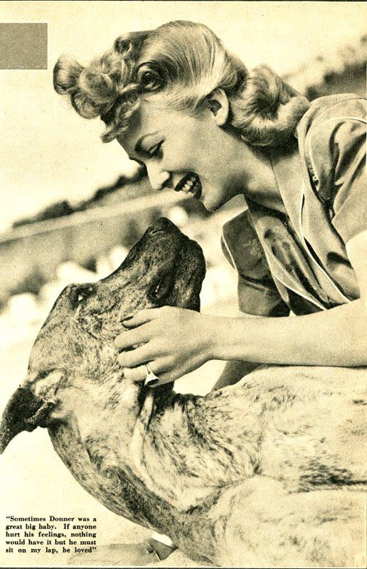 Carole Landis And Her Great Dane Donner Great Dane Dogs Great