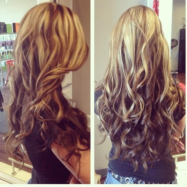 Light Up Top Dark On Bottom Colored Hair Extensions Hair Hair Beauty