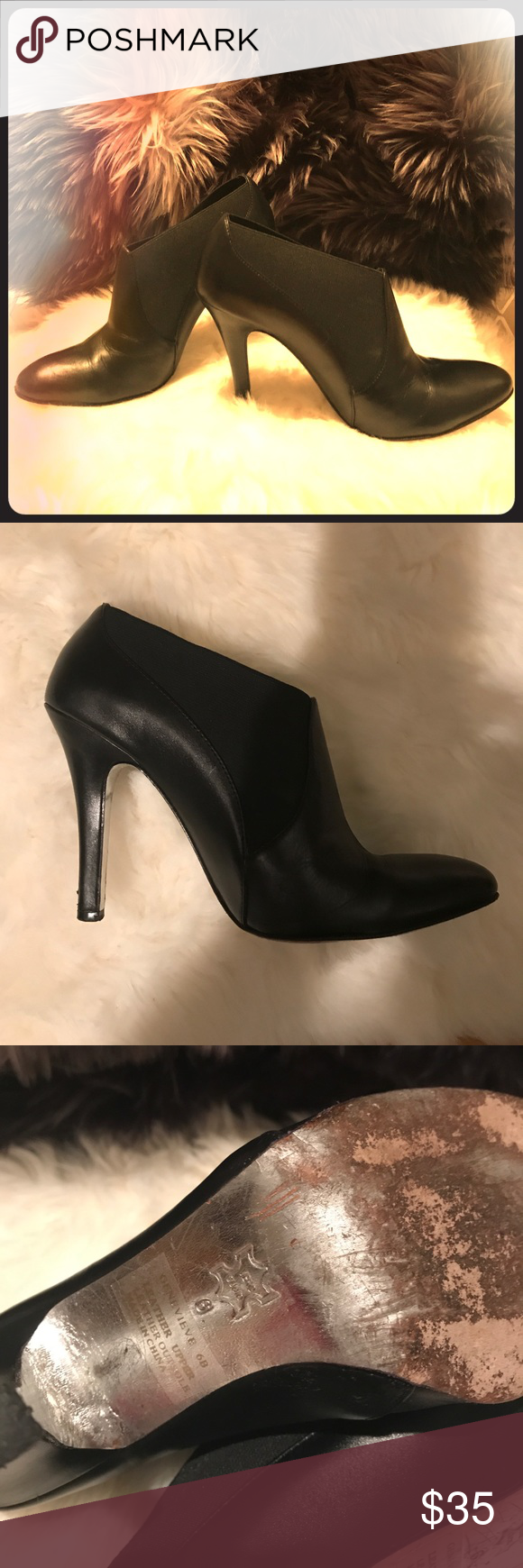 Bebe Black Shoe Boots Size 6 Black Bebe Shoe Boots Size 6 Minor Wear To Shoes See Pictures Heels And Souls Leather Upper Black Shoe Boots Shoe Boots Shoes