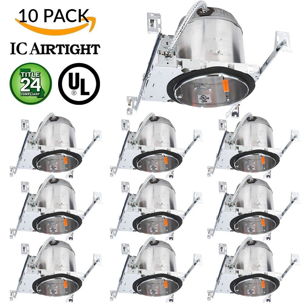 Sunco lighting 10 pack 6 new construction led can air tight ic sunco lighting 10 pack 6 new construction led can air tight ic housing led recessed aloadofball Gallery
