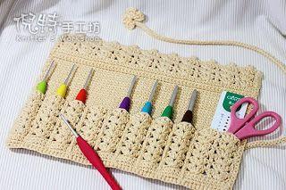 Porta Agujas Agujas Crochet Agujas De Ganchillo Funda Para Agujas De Ganchillo