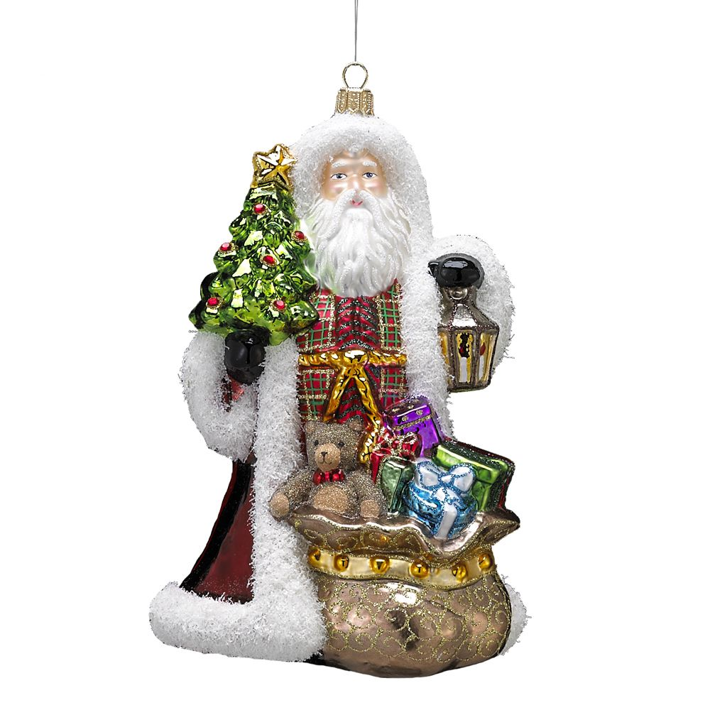 kurt adler 768 inch polonaise father christmas with lantern ornament overstock shopping great - Overstock Christmas Decorations