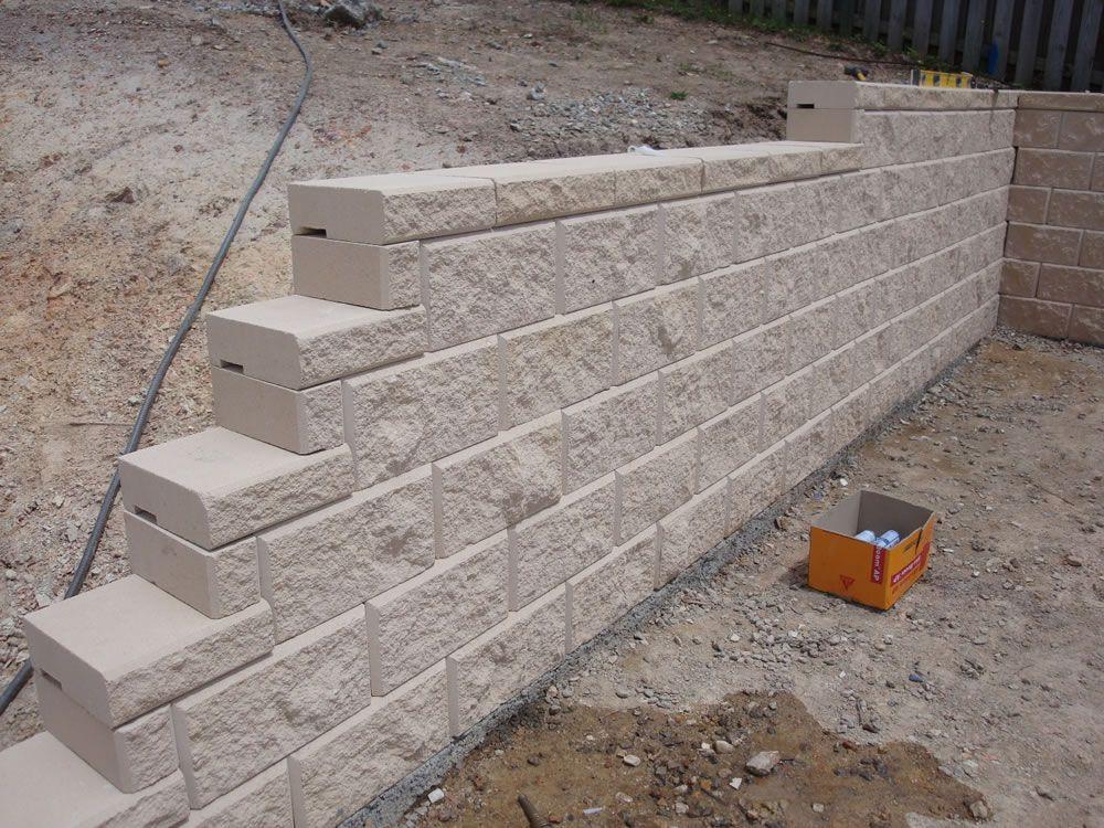 Heron Concrete Block Retaining Wall Coomera Australian Retaining Walls Concrete Block Retaining Wall Retaining Wall Retaining Wall Fence